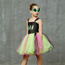 Alien Costume Disguise Dress Cosplay Kids Carnival with Girls Glasses Fancy Halloween