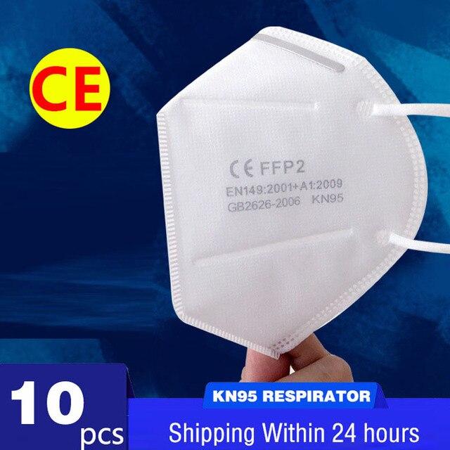 Fast Delivery Hot Sale KN95 Masks Dustproof Mask FFP2 KN95 Mask 95% Filter Protective Dust Face Mask Mouth Mask