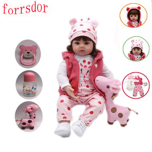 Forrsdor 47 cm soft silicone bebe reborn baby toys bebes reborn cute giraffe set children's best birthday gift surprise(China)