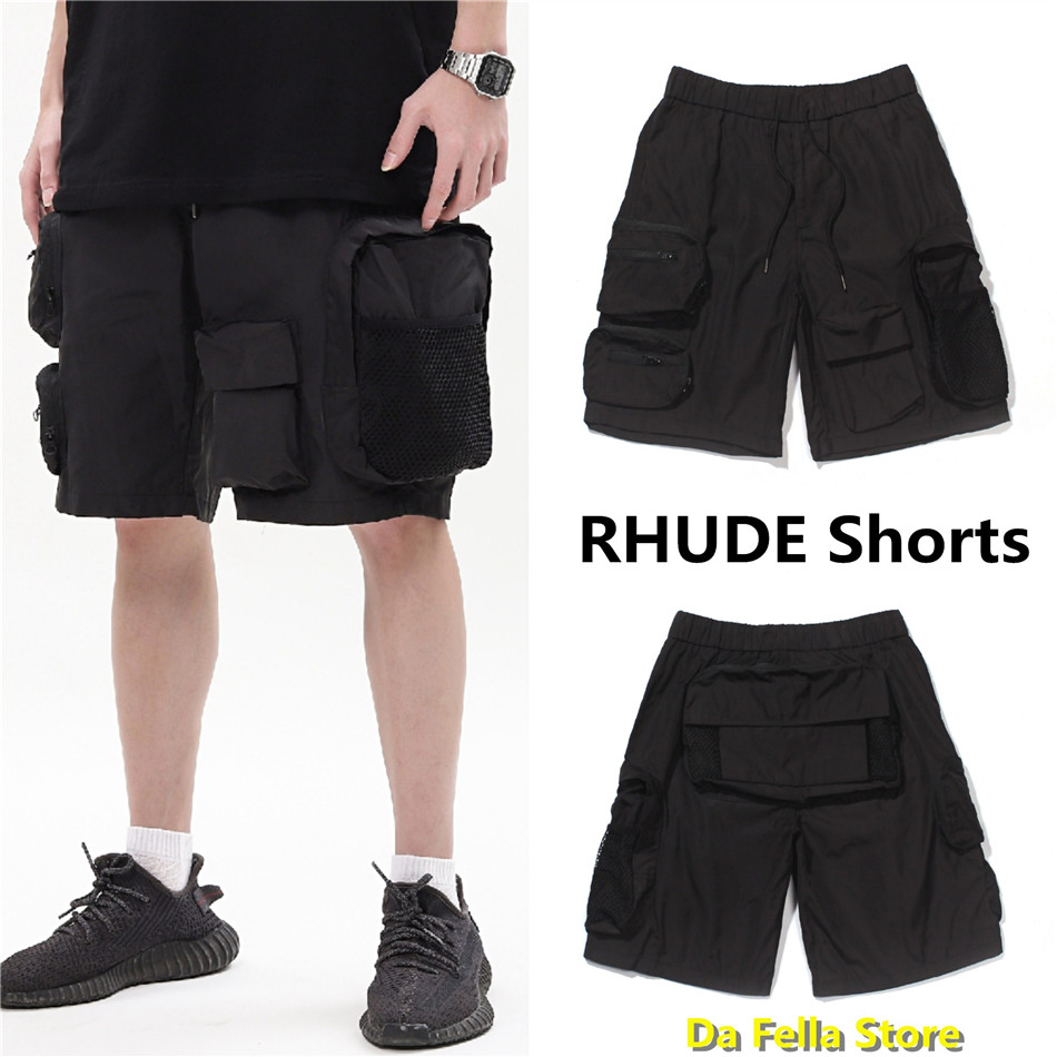 Rhude Shorts 2020 Men Women Multifunctional Pockets RHUDE Shorts Outdoor Streetwear Oversize High Quality Overalls stereoscopic