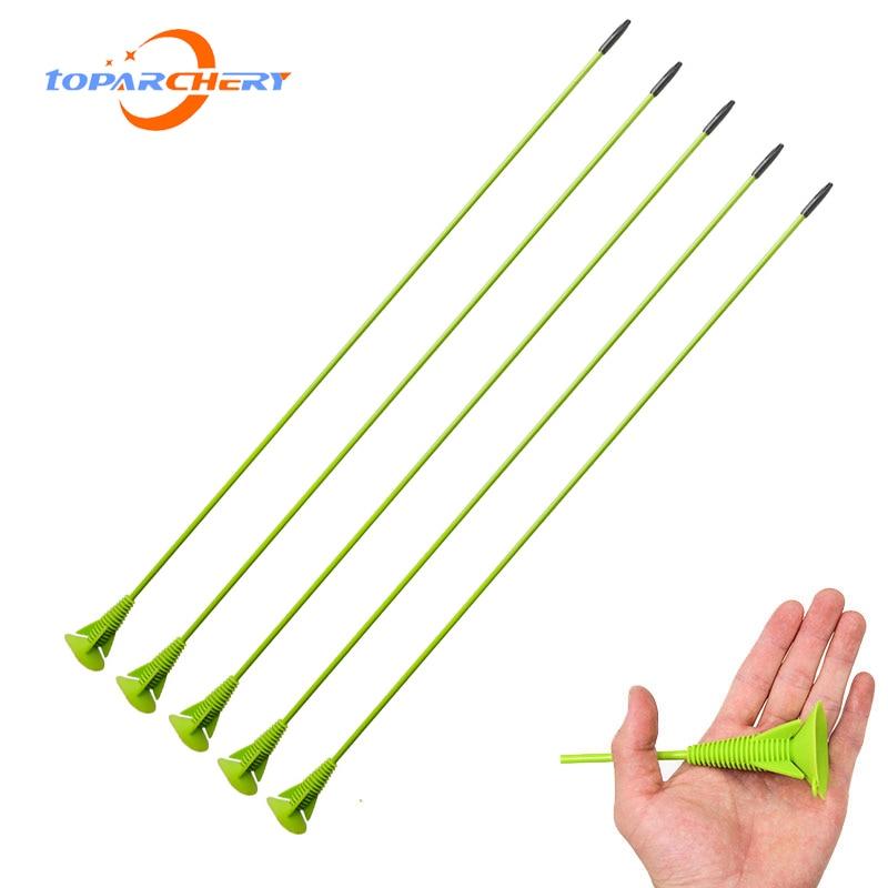 6/12pcs Archery Sucker Arrow Children Practice Hunting Fiberglass Arrows for Outdoor Archery Game Kids Bow Shooting Practice