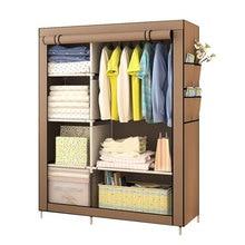Минималистичный современный усиленный большой гардероб, DIY нетканый складной портативный шкаф для хранения одежды, пылезащитный Тканевый шкаф