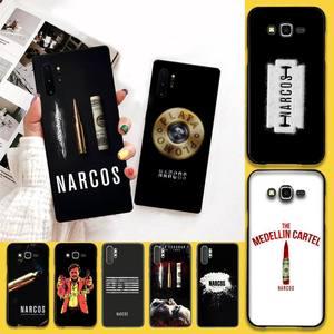 Usakpgrt filmes populares caso de telefone narcos para samsung galaxy note20 ultra 7 8 9 10 plus lite j7 j8 mais m21 m30s