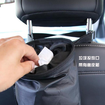 Car seat back debris storage hanging bag for BMW E30 E34 E36 E39 E46 E53 E70 E60 E87 E90 E91 E92 Mercedes Benz W205 W203 A/B/C/E image