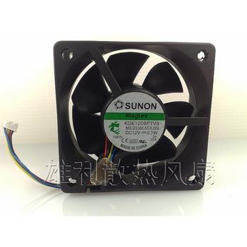 Original For Sunon KDE1206PTV3 12V 0.7W 6CM 6025 60x60x25mm 4 wire 4-pin pwm cooling fan new for avc 6cm 6025 double ball 4 wire fan ds06025b12l 12v 0 30a server cooling fan