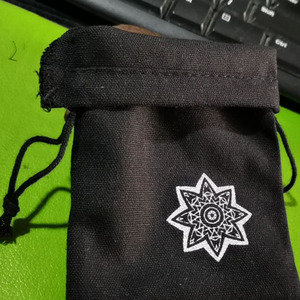 Image 4 - Bolsa de algodón negro para joyas, 8x10cm, 9x12cm, 10x15cm, 13x17cm, paquete de 50 bolsas de regalo para maquillaje, saco de caramelos de fiesta
