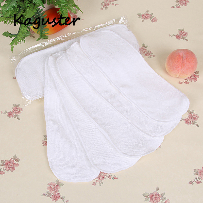 33*13 Cm 5pcs  Inserts Boosters Liners Baby Cloth Nappies Diaper Cover Reusable Newborn Cloth Diapers Nappy Washable Cheap Stuff