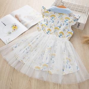 Image 4 - فستان بناتي موضة 2020 برقبة على شكل زهرة فستان للأطفال