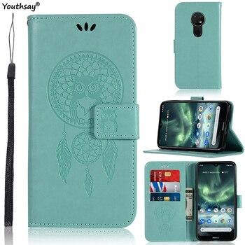 Перейти на Алиэкспресс и купить Для Nokia 7,2 чехол Роскошный Сова Модный мягкий ТПУ Кожаный противоударный флип чехол для Nokia 7,2 чехол для Nokia 7,2 сумка для телефона