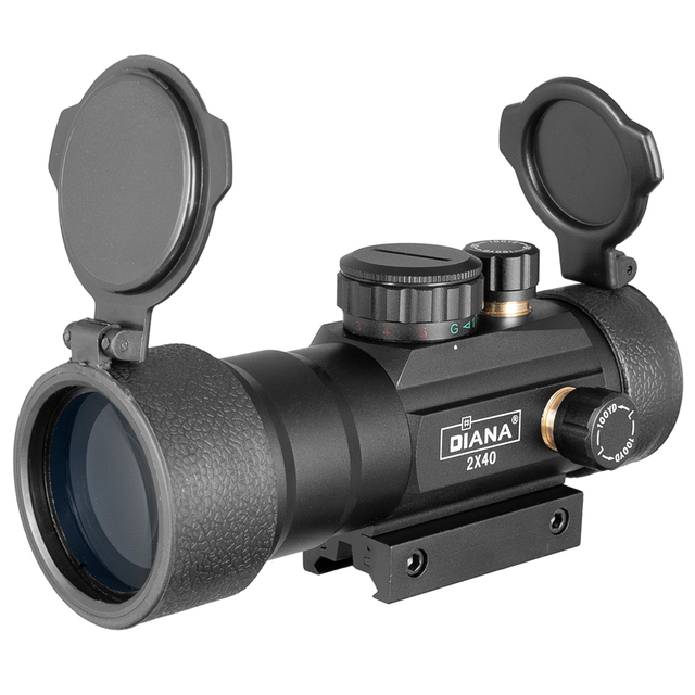 DIANA 3X44 Green Red Dot Sight Scope Tactical Optics Riflescope Fit 11/20mm rail Rifle Scopes for Hunting 4