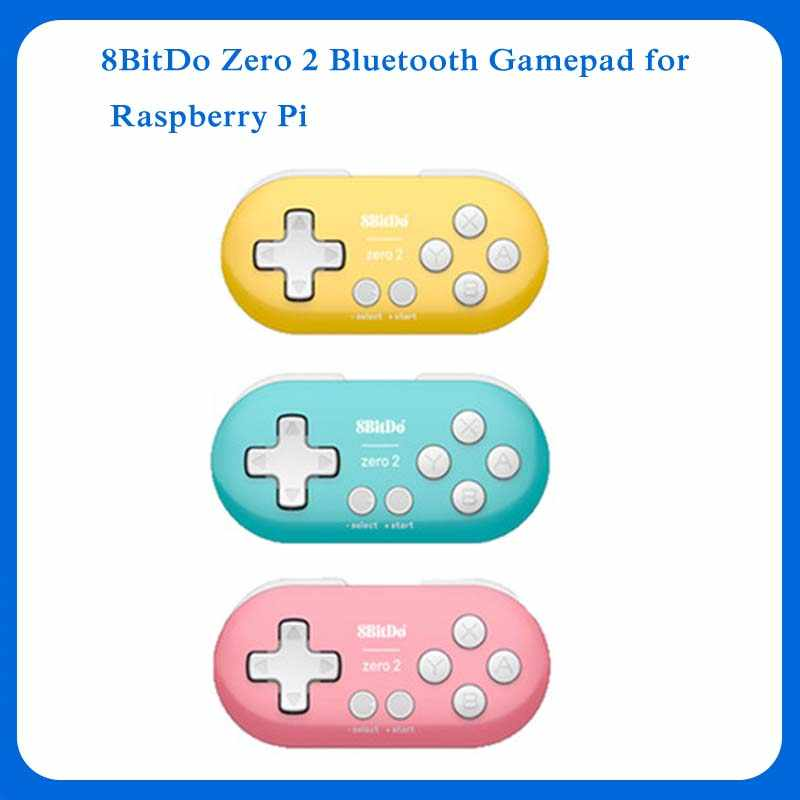Gamepad 8bitdo zero 2 bluetooth, para nintendo switch, windows, android, macos para raspberry pi 2b/3b/3b +/4b/zero/zero w/zero wh