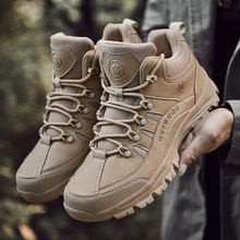 Outdoor Men Hiking Shoes Breathable Tactical Combat Army Boots Desert Training Sneakers Anti-Slip Trekking Shoes недорого
