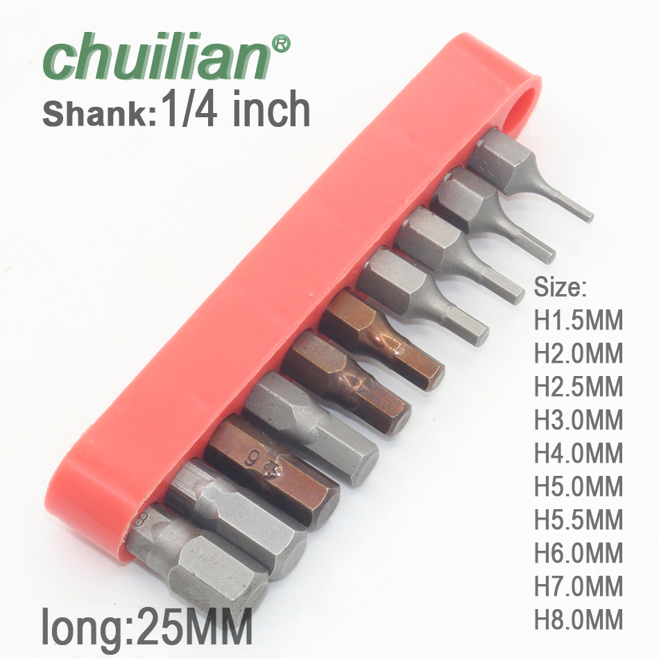 SLOTTED 4.5MM 5.5MM /& 6.5MM 25MM  S2 QUALITY TOOL STEEL SCREWDRIVER BITS 1//4 HEX