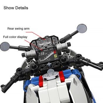 High-tech Motorcycle car Model building blocks  2