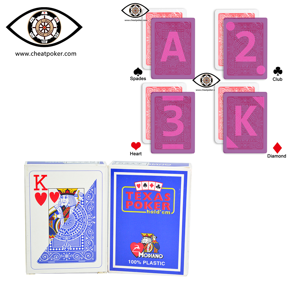 Marked cards for contact lenses, Italian Modiano Texas Holdem Plastic Invisible Luminous Ink, magic show marked anti cheat poker