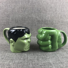 Creative Hulk fist and head Design Ceramics Mugs coffee mug Milk Tea office Cups Drinkware the Best birthday Gift with gift Box