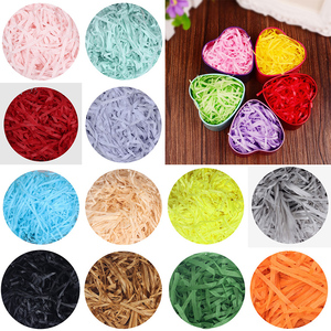 10g Colorful Shredded Crinkle Paper Raffia Candy Boxes DIY Gift Box Filling Material Tissue Party Gift Packaging Filler Decor