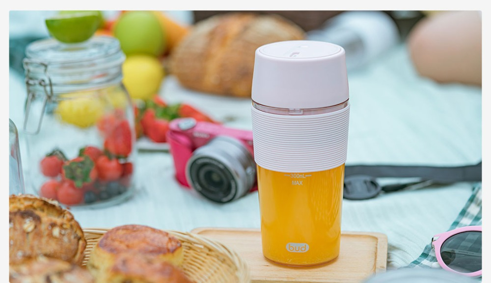 H859ed9df969c4158bd485841655b13c9v XIAOMI MIJIA Bud BR25E Blender Portable Fruit Cup Electric Kitchen Mixer Juicer food processor Machine 300ML Magnetic charging