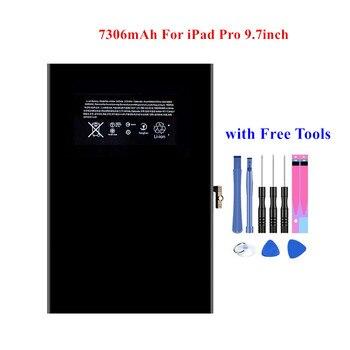 Batería de repuesto 100% para iPad Pro, 9,7 pulgadas, A1673, A1674, A1675, A1664, batería de repuesto de 7306mAh, Akku de ciclo 0 y herramientas