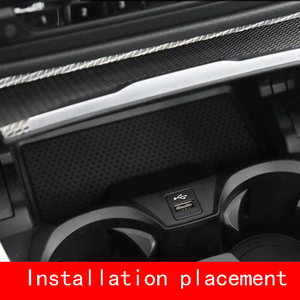 Image 2 - 10W Qi Draadloze Oplader Voor Bmw 3 Serie G20 G28 325I 330I 2019 2020 Draadloze Opladen Telefoon Oplader Opladen plaat Accessoires