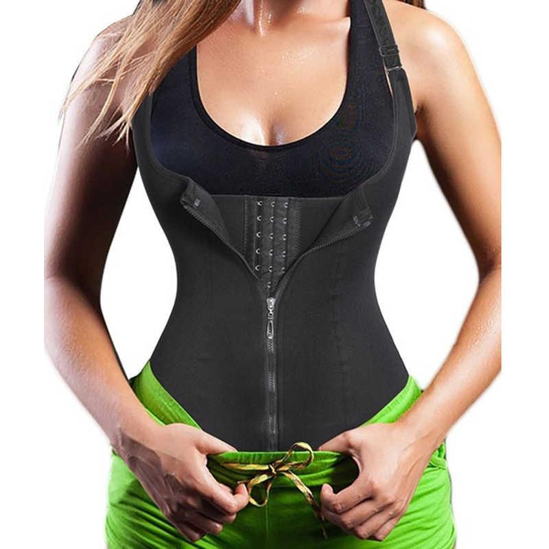 Women Waist Trainer Body Underbust Zips Tummy Control Slimming Vest Neoprence