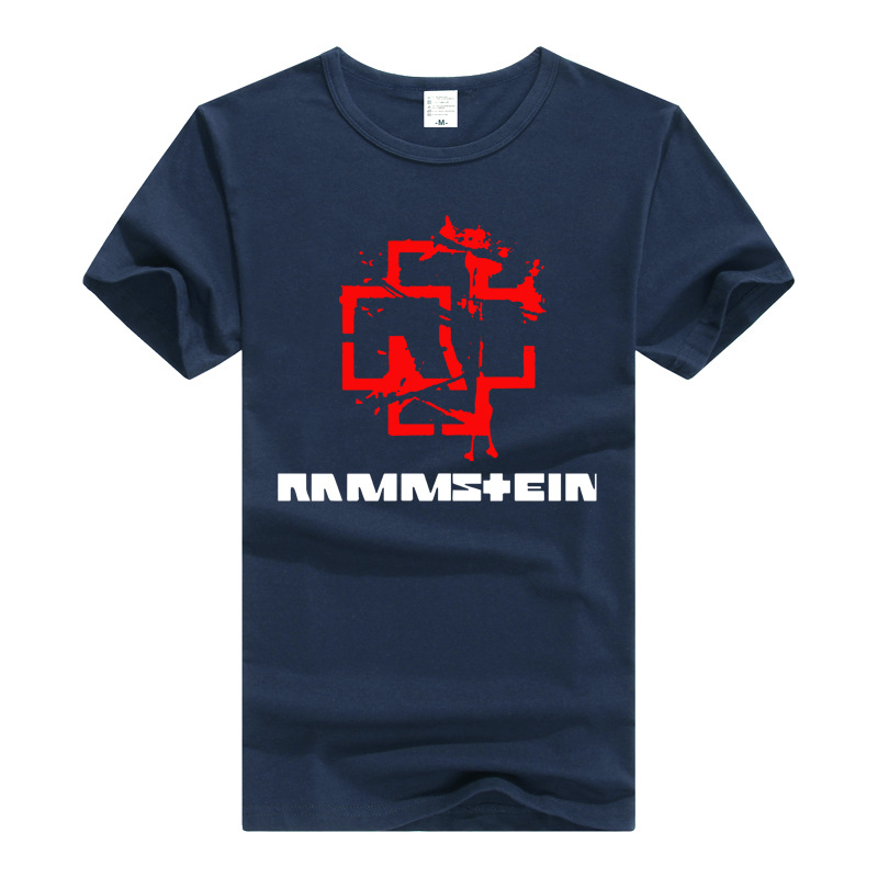 Summer New Style Short Sleeve T-shirt Industrial Heavy Metal Band Rammstein Germany Chariot Men And Women Couple Clothes