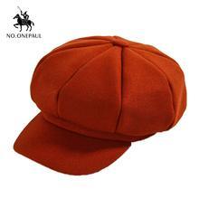 Новинка модная однотонная шерстяная восьмиугольная шапка noonepaul