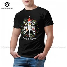 Skeleton T-Shirt Basic Fun Cotton T Shirt Graphic Short Sleeves Tshirt Male Oversized