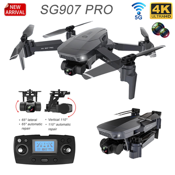 HKNA  New SG907Pro GPS Drone with 4K HD Dual Camera Professional 2-Axis Gimbal 5G WIFI RC Foldable Quadcopter Toy Gift