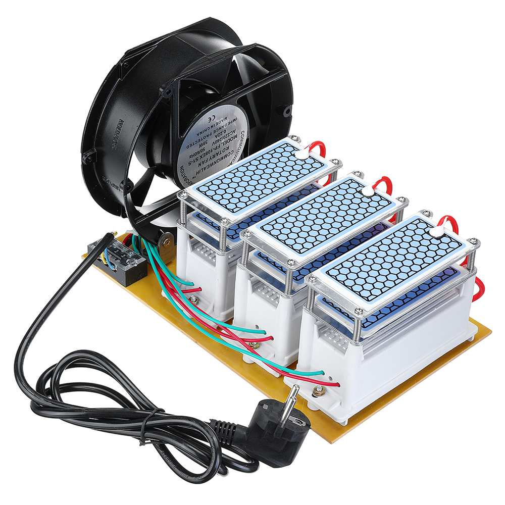 220V EU 60g /h Ozone Generator Fan Air Purifier Water Ozone Disinfection Machine Oxidant Sterilize Long-life Integrated