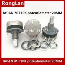 Potentiometer E10K Imports And Handle Half-Game-Machine BELLA Japanese 20mm--10pcs/Lot