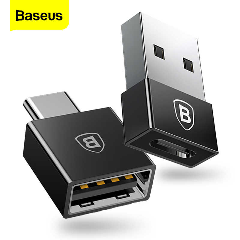 Baseus Otg Usb Type C Adapter Usb Naar Type-C Data Converter Type-C Otg Adapter Voor Samsung s9 S8 Xiaomi Tablet USB-C Charger Cabo