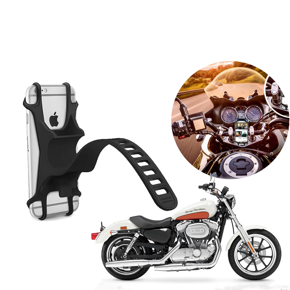 Support Smartphone Telephone Moto Motorbike Bicycle Silicone Mobile Phone Holder Mount For Motorcycle Bike Iphone Xiaomi Samsung