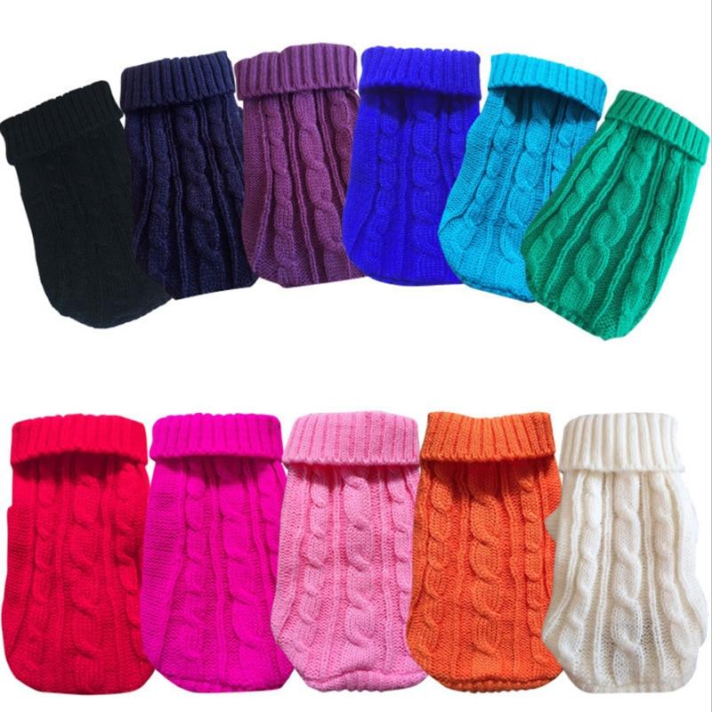 Зимний теплый свитер для собак, кошек, однотонная Одежда для собак и кошек, Такса, Ши, тцу, Гета, пуловеры, одежда для собак Kedi, pull chien
