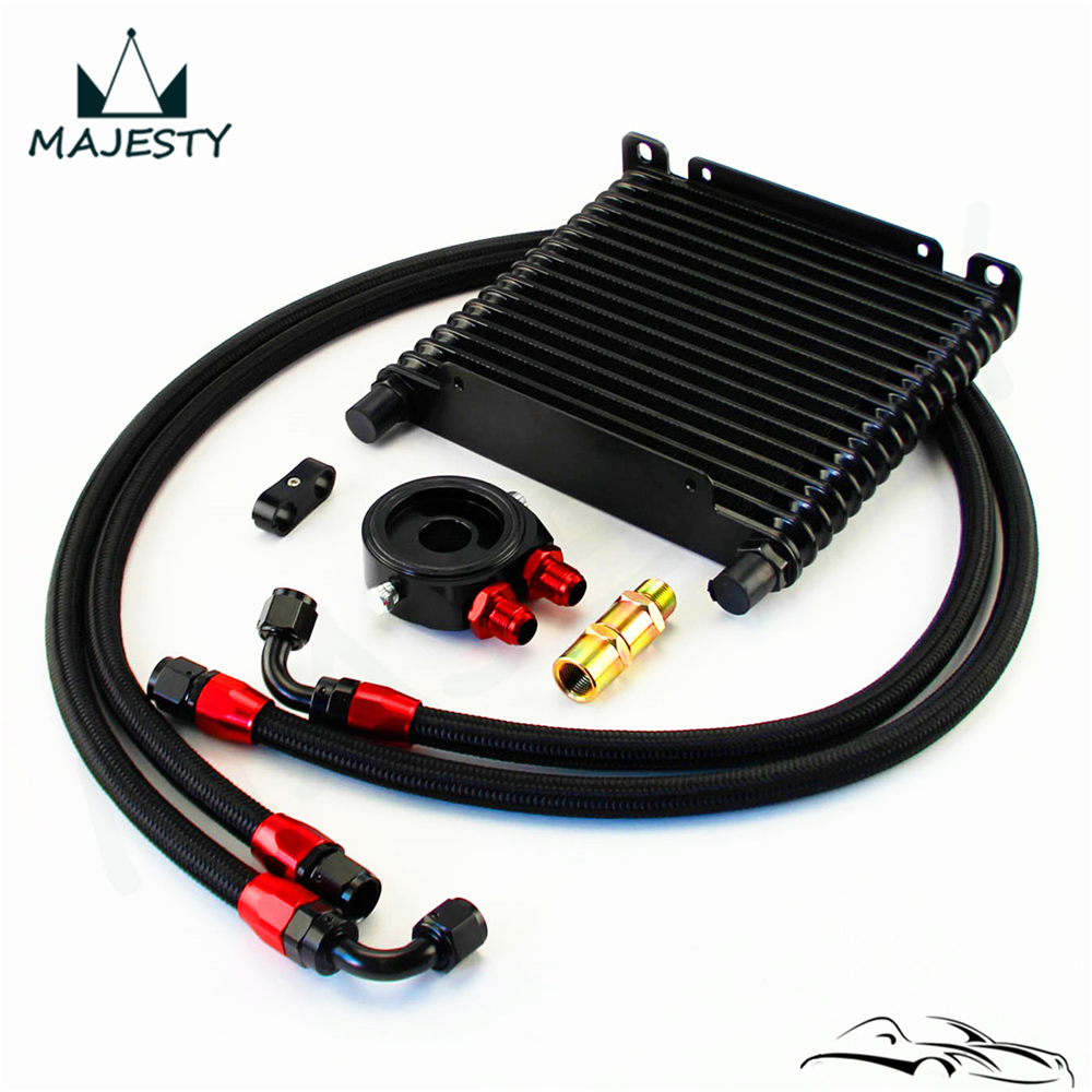 Universal 32mm Oil Cooler 17 Row AN8 Filter Adapter Hose Kit track / race car|Radiators & Parts| |  - title=