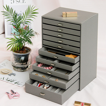 Large Capacity Multi-storey Jewelry Box Ten-storey European