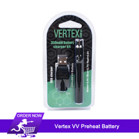 Preheating Battery Vertex VV CBD Preheat Battery 350mAh O Pen Pen Voltage adjustable Preheat 510 thread for Wax Oil Cartridge
