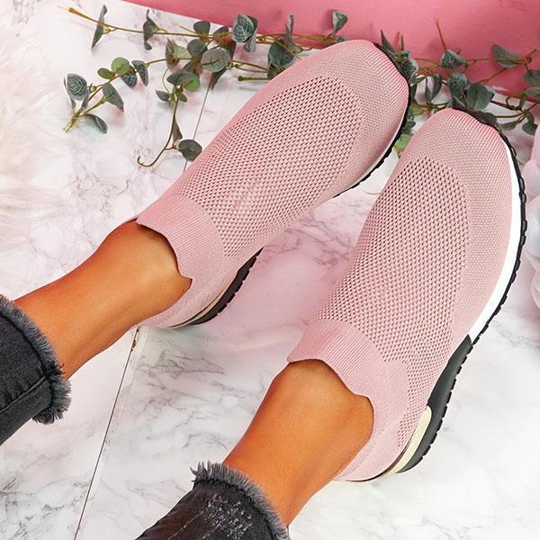 Tênis mulher vulcanizado sapatos senhoras cor sólida deslizamento-em tênis para o sexo feminino sapatos casuais calçados esportivos 2021 moda mujer 4
