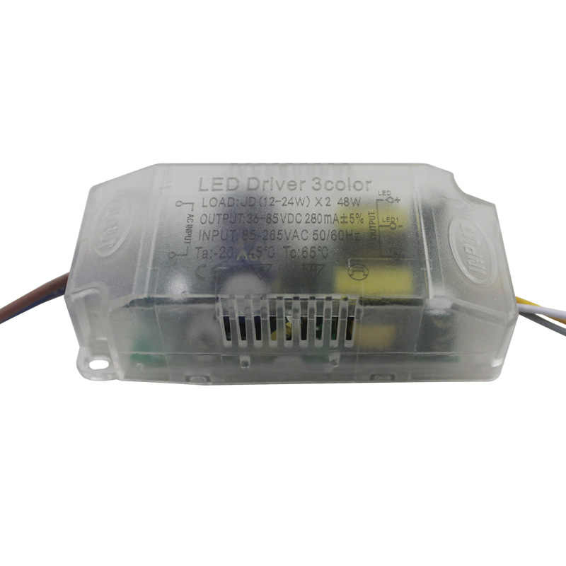 12-24Wx2 LED 3 kolor z tworzywa sztucznego sterownik AC165-265V jazdy samochodem transformator zasilający dla oświetlenia LED z pilot na podczerwień