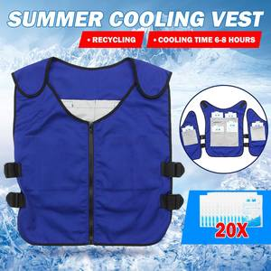 Cooling Vest Summer Waterproof Anti-Heat with 20pcs Ice-Bags Protective High-Temperature