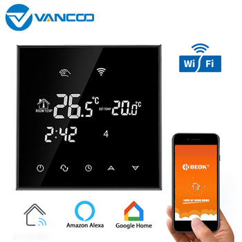 Vancoo Wifi Smart Thermostat 220v Touch Screen 3A Water Floor Heating Digital Thermostat Calefaccion Temperature Controller lcd touch screen smart wifi big digital temperature thermostat touch screen warm floor heat controller thermostat