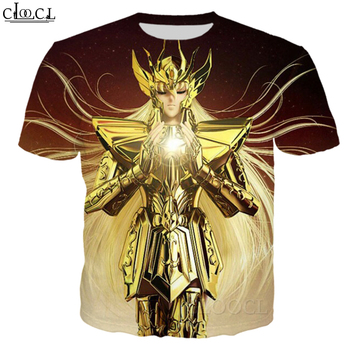 CLOOCL-Camiseta informal de los caballeros del zodiaco, camiseta de manga corta con...