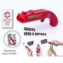 цена на Portable Cap Gun Opener Launcher Bottle Beer Opener Bar Tool Drink Opening Gun Shaped Bottle Lids Shooter Kitchen Tools