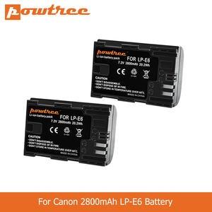POWTREE Camera Battery LP-E6 Mark-Ii Canon-Accessories 70D Canon 5d 80D 2800mah for III