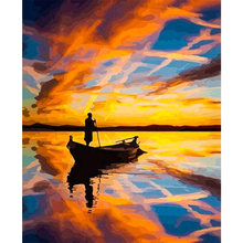 Tapb diy картина маслом по номерам ручная роспись пейзаж акрил