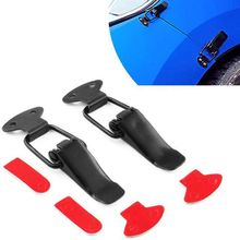 2Pcs Universal Bumper Durable Security Hook Lock Clip Kit Clip Hasp For Racing Car Truck Hood Quick Release Fastener car modified trunk adjustable spring racing engine hood lock lock trunk lock tail box hook spring hook car styling accessories