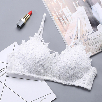 Sexy Lingerie Women Lace Floral Embroidery Bra