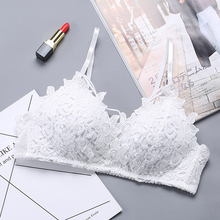 DERUILADY Sexy Lingerie Women Lace Floral Embroidery Bra Underwear Fashion Seamless Push Up Bras Wireless Adjusted Bralette
