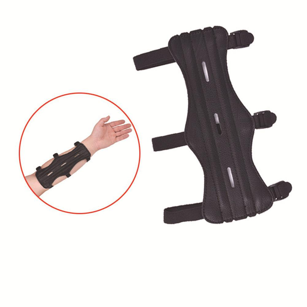 HiMISS Arm Guard Protection Forearm Cowhide Archery Equipment Safe Adjustable Bow Shooting Training Accessories Protector
