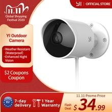 Yi Outdoor Security Camera Cloud Ip Cam Draadloze 1080P Resolutie Waterdichte Nachtzicht Beveiliging Surveillance Systeem Wit